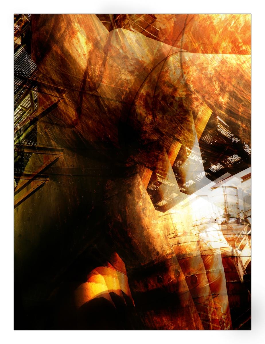 Impression aus der Völklinger Hütte im Sonnenlicht